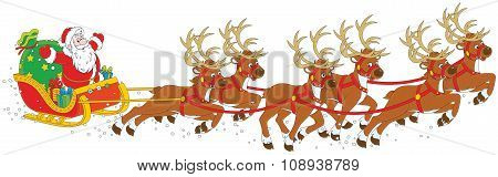 Christmas Sleigh of Santa Claus