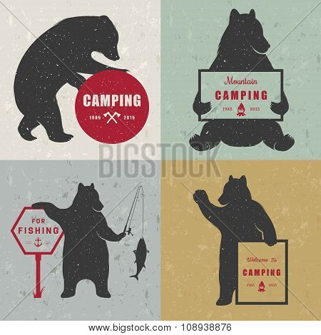 Set Sign Fun Bears