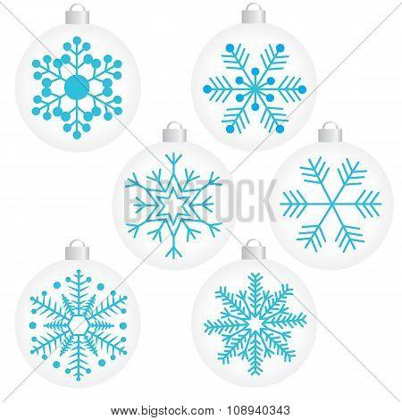 snowflak in balls