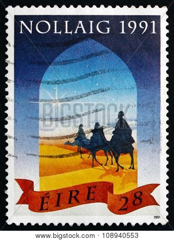 Postage Stamp Ireland 1991 Wise Men And Star, Christmas