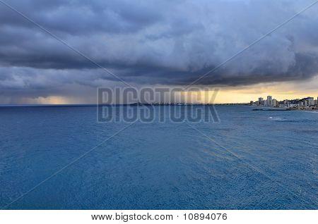 Evening Over Sea