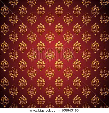Abstract red - golden background.