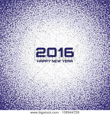 Blue - Violet New Year 2016 Snow Flake Background