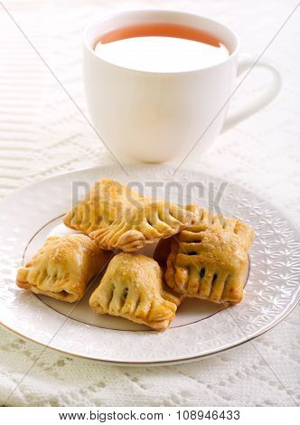 Bite Size Pastries On Plate