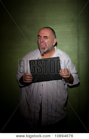 Snarling Man In Mugshot