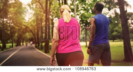 Activity Cardio Cheerful Couple Exercise Togetherness Concept, blurred