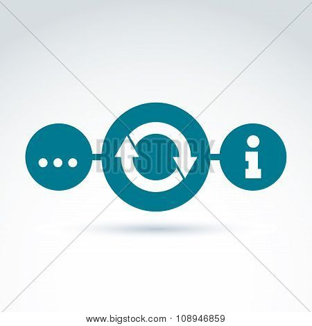 Analyzing Data And Info, Information Collecting And Exchange Theme Icon, Vector Conceptual Unusual S