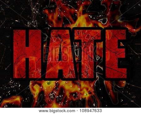 Hate Concept Typographic Design