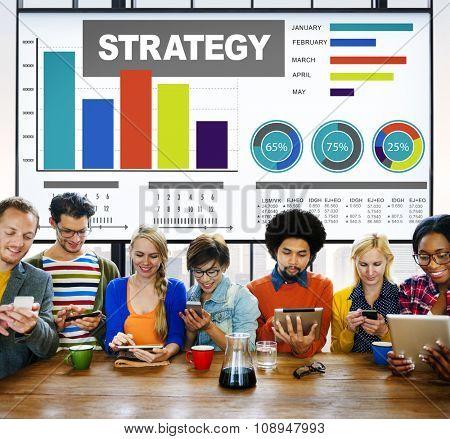 Strategy Plan Marketing Data Ideas Innovation Concept
