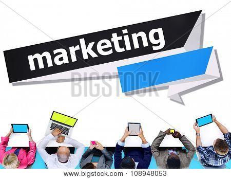 Marketing Commercial Media Consumer Customer Concept