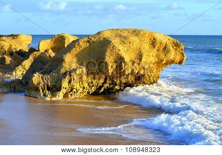 Praia Da Gale Beach on the Algarve coast