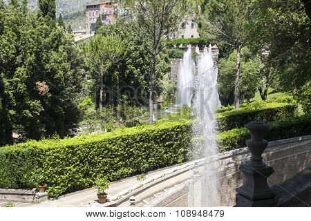Fountain In Tivoli, Italy