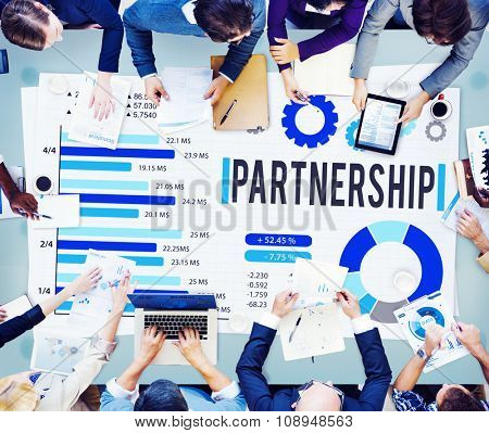Partnership Partner Team Teamwork Organization Concept