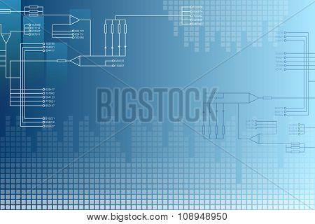 Blue scheme abstract background