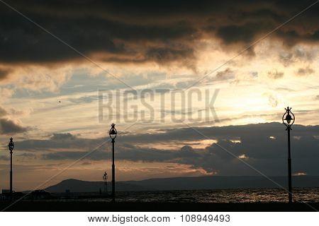 cloudscape sunrise at the beach