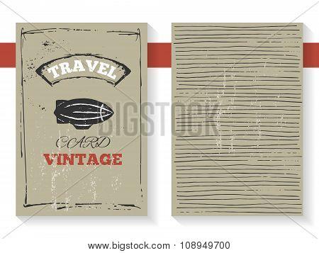 Vintage Zeppelin card
