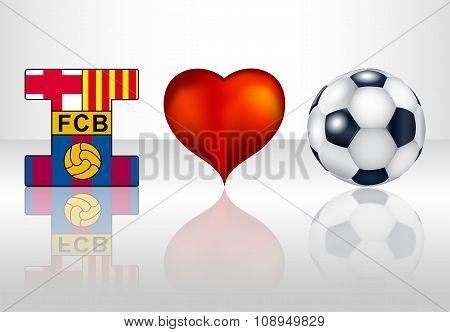 I love football club barcelona.