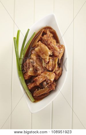 red wine ginger chicken traditional food for chinese woman confinement month