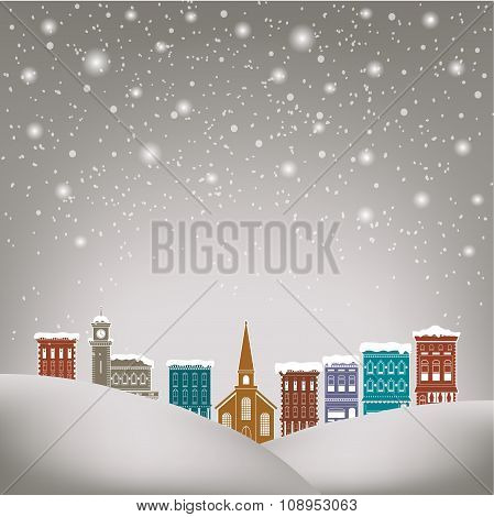 Quaint Christmas village