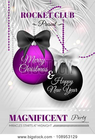 Christmas Flyer For Night Club Template