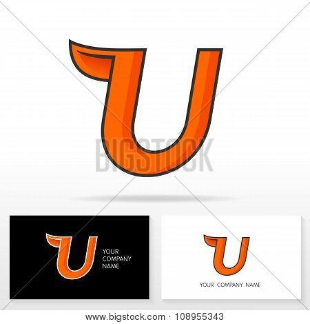 Letter U logo icon design template elements - Illustration.