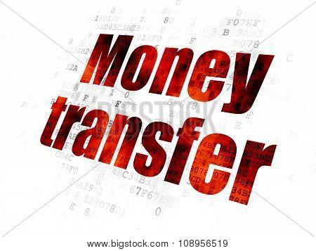 Banking concept: Money Transfer on Digital background