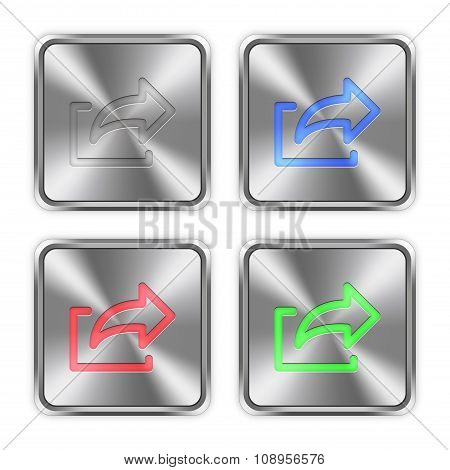 Color Export Steel Buttons