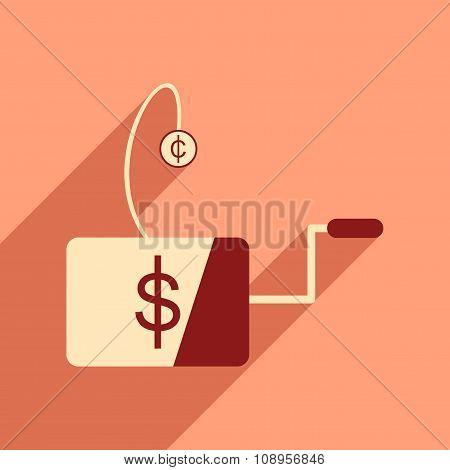 Modern flat icon with shadow economic logo