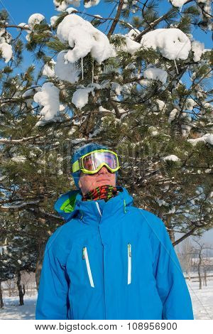Portrait Of A Snowboarder