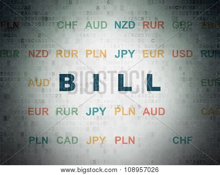 Money concept: Bill on Digital Paper background