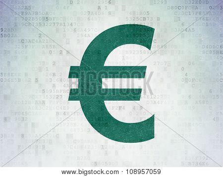 Currency concept: Euro on Digital Paper background