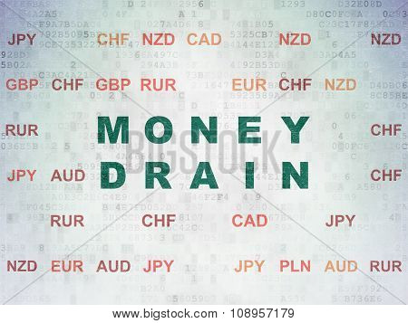 Money concept: Money Drain on Digital Paper background