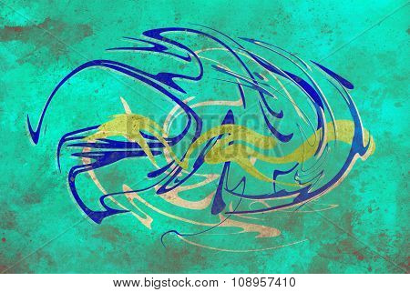 abstract background, color graffiti with grunge effect and glass effect.