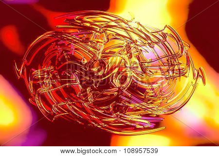 abstract background line, color graffiti  and glass effect.