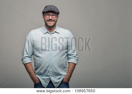Friendly Attractive Man In Glasses