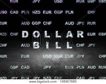 Currency concept: Dollar Bill in grunge dark room