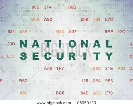 Security concept: National Security on Digital Paper background