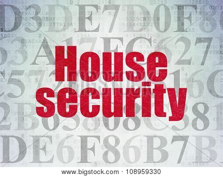 Safety concept: House Security on Digital Paper background