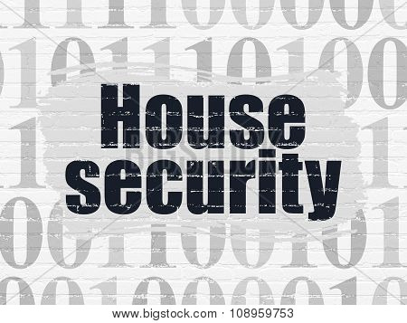 Security concept: House Security on wall background