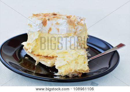 Puff Pastry, Vanilla Custard And Whipped Cream