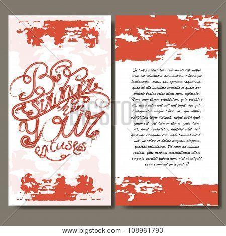 Vintage Art Cards. Vector Decorative Retro Invitation Design. Calligraphic Illustration. Poster Or G