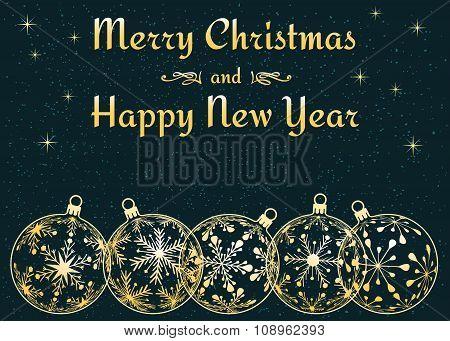 dark Christmas and New Year background