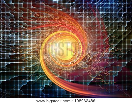 Glow Of Abstract Visualization