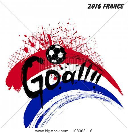 Euro 2016 France football championship vector design