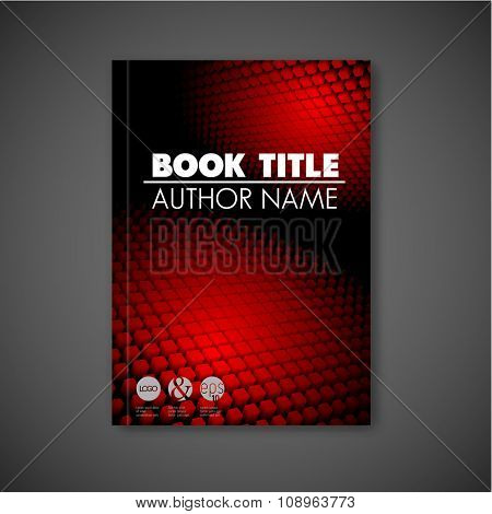 Modern Vector abstract dark brochure / report design template with 3d shapes