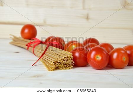 Tomato, And Bunch Of Spaghetti