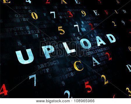 Web design concept: Upload on Digital background