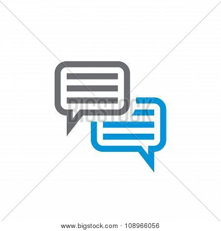 Speech bubbles vector icon sign.
