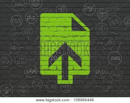 Web design concept: Upload on wall background