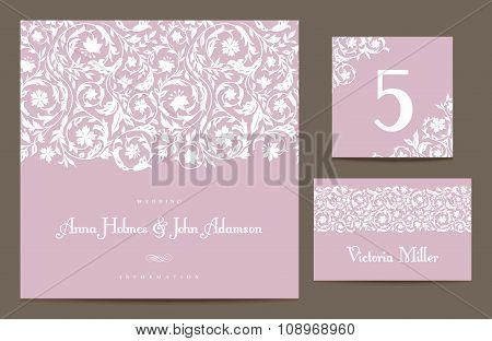 Set backgrounds to celebrate the wedding.